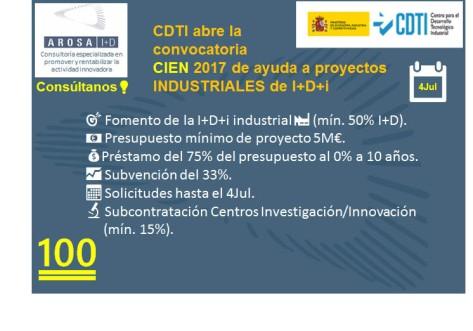 AROSA I+D CDTI-CIEN 2017